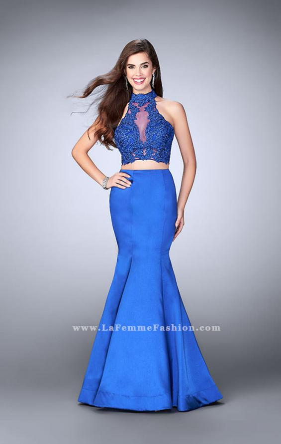 Picture of: Two Piece Mermaid Dress with Sheer Lace High Neck Top, Style: 24306, Main Picture