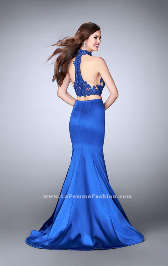 Picture of: Two Piece Mermaid Dress with Sheer Lace High Neck Top, Style: 24306, Back Picture