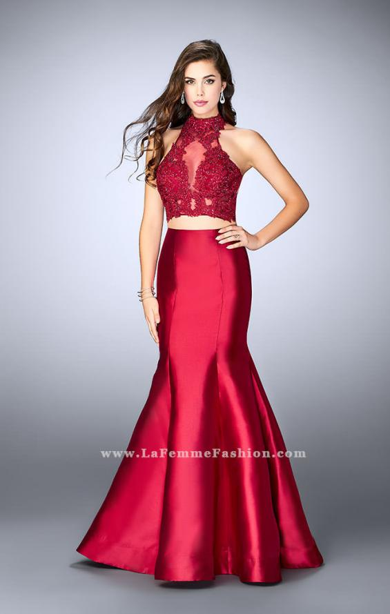 Picture of: Two Piece Mermaid Dress with Sheer Lace High Neck Top, Style: 24306, Detail Picture 1