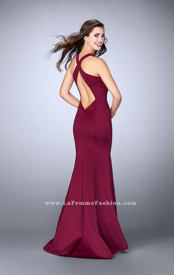 Picture of: Long Neoprene Prom Dress with Low Back, Style: 24313, Back Picture