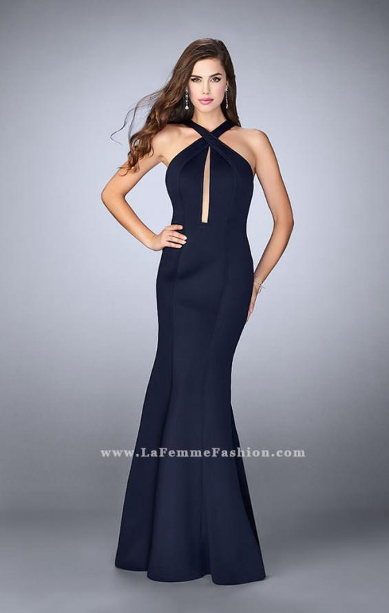 Picture of: Long Neoprene Prom Dress with Low Back, Style: 24313, Detail Picture 1