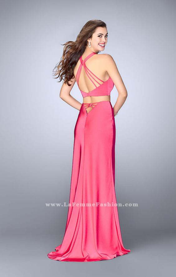 Picture of: Two Piece Jersey Dress with Strappy Lower Back, Style: 24324, Back Picture