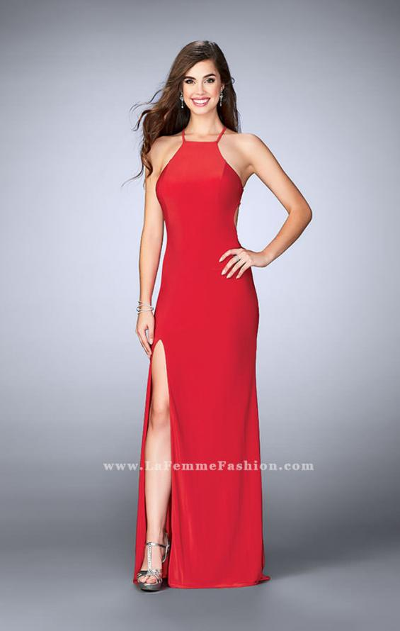 Picture of: Long Prom Dress with a Strappy Back and Side Slit, Style: 24351, Back Picture