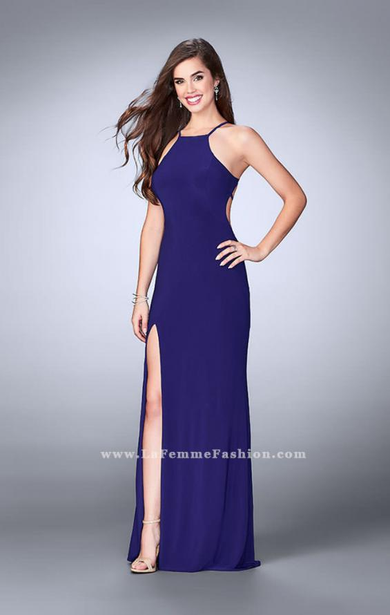 Picture of: Long Prom Dress with a Strappy Back and Side Slit, Style: 24351, Detail Picture 1