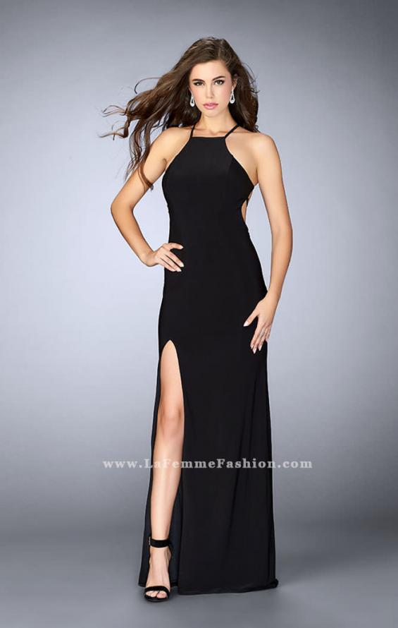 Picture of: Long Prom Dress with a Strappy Back and Side Slit, Style: 24351, Detail Picture 2