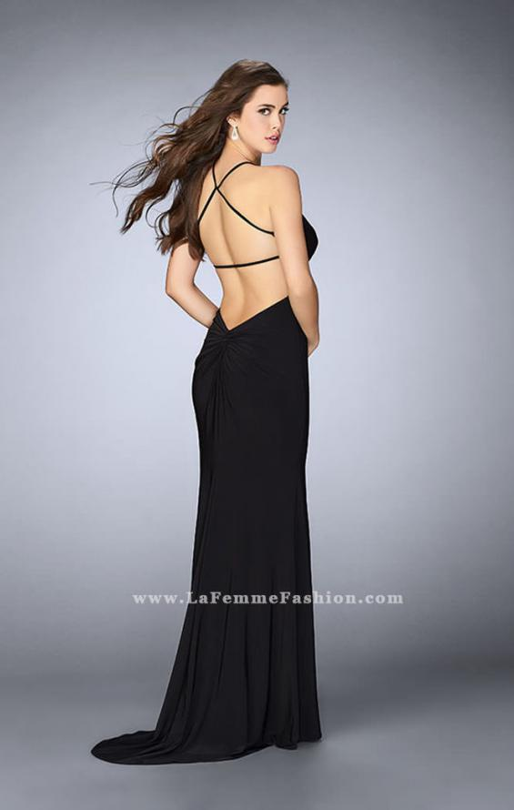 Picture of: Long Prom Dress with a Strappy Back and Side Slit, Style: 24351, Detail Picture 3