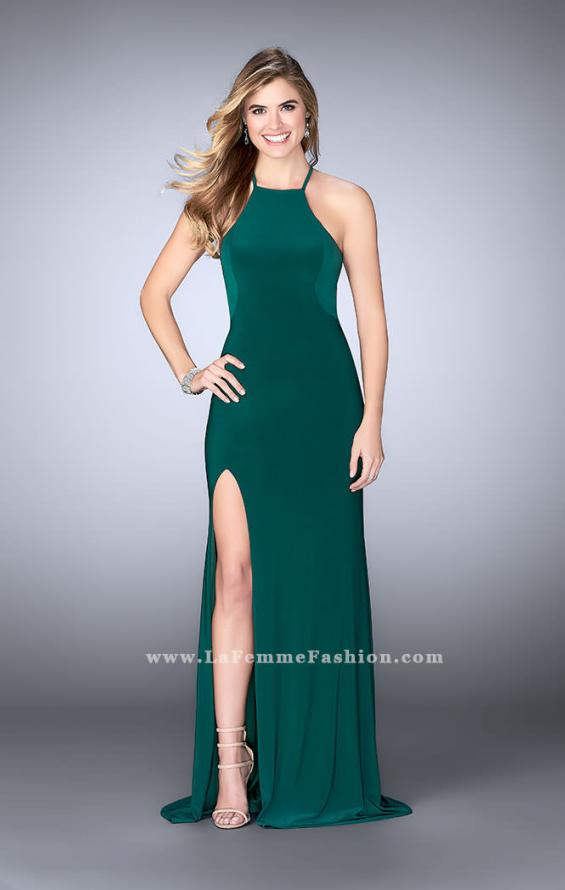 Picture of: Long Prom Dress with a Strappy Back and Side Slit, Style: 24351, Detail Picture 4