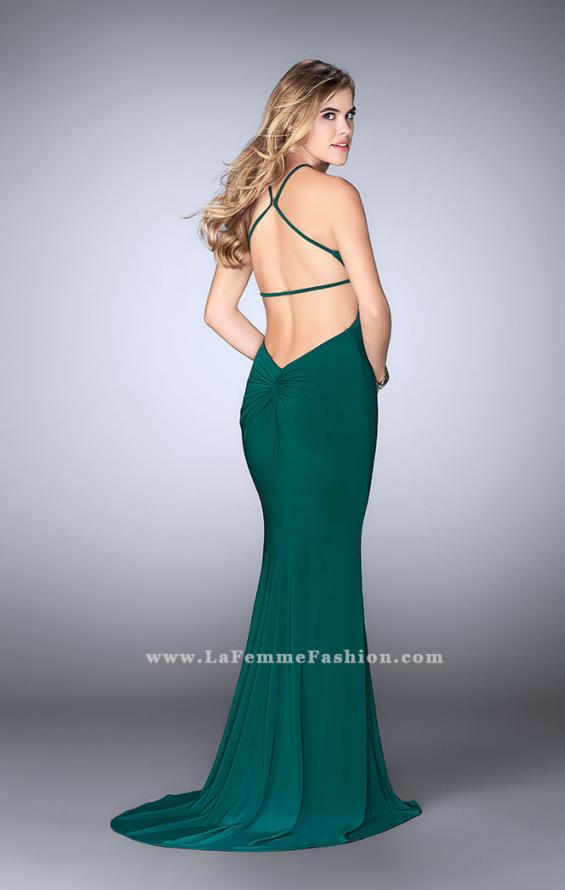 Picture of: Long Prom Dress with a Strappy Back and Side Slit, Style: 24351, Detail Picture 5