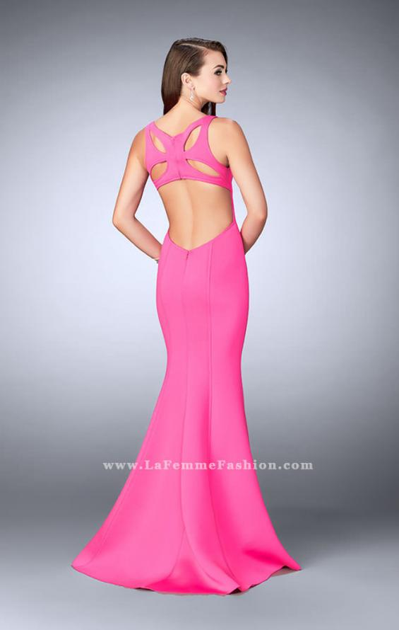 Picture of: Neoprene Mermaid Prom Dress with Cut Out Back, Style: 24360, Back Picture