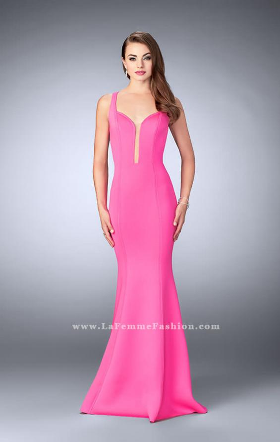 Picture of: Neoprene Mermaid Prom Dress with Cut Out Back, Style: 24360, Detail Picture 1