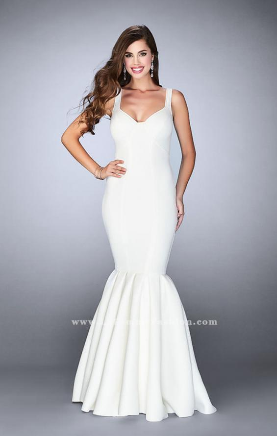 Picture of: Classic Neoprene Dress with Pleated Mermaid Skirt, Style: 24361, Main Picture