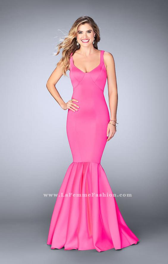 Picture of: Classic Neoprene Dress with Pleated Mermaid Skirt, Style: 24361, Detail Picture 3