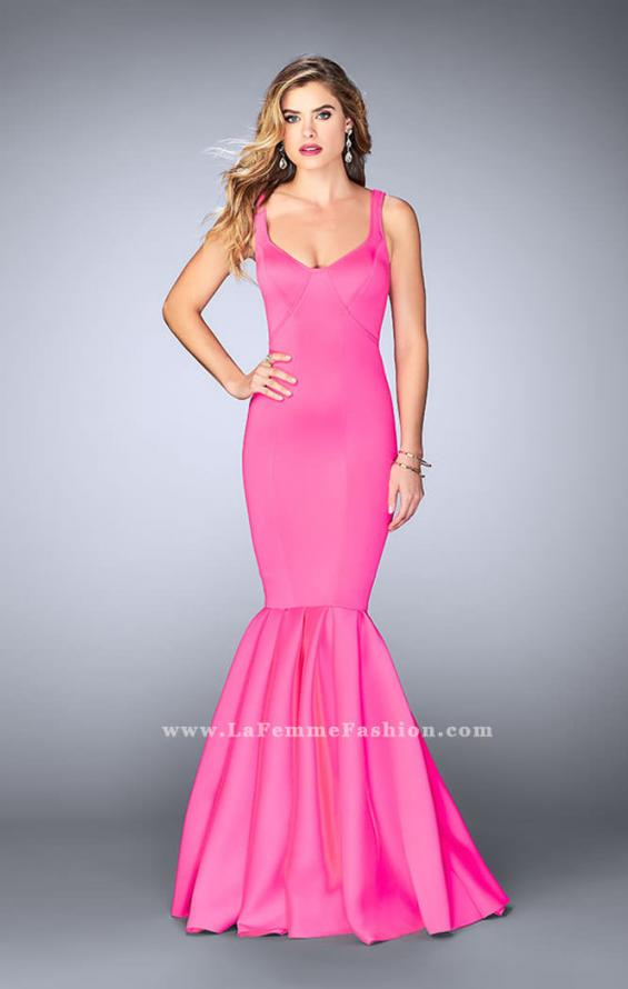 Picture of: Classic Neoprene Dress with Pleated Mermaid Skirt, Style: 24361, Detail Picture 4