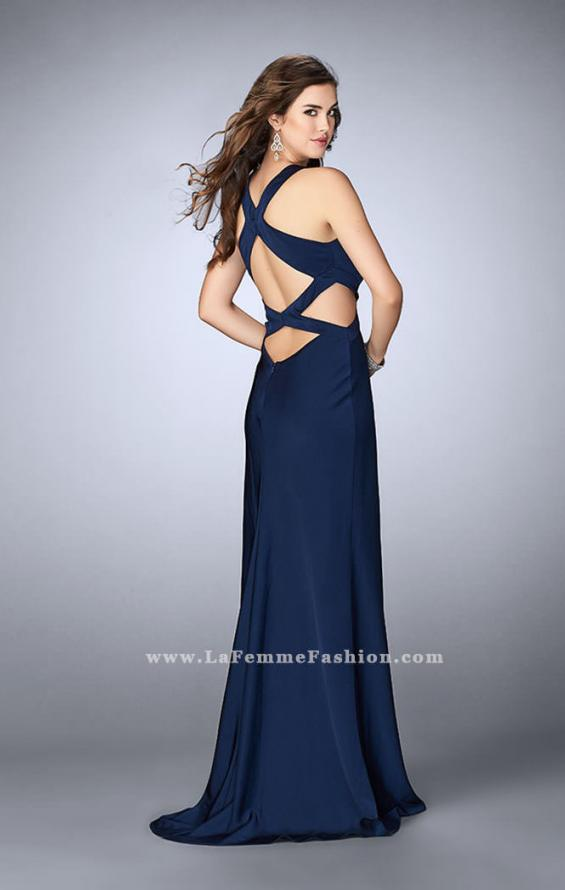 Picture of: Long Prom Dress with Front Slit and Open Back, Style: 24369, Back Picture