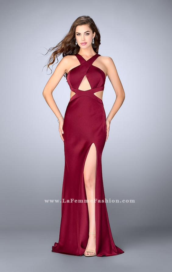 Picture of: Long Prom Dress with Front Slit and Open Back, Style: 24369, Detail Picture 2