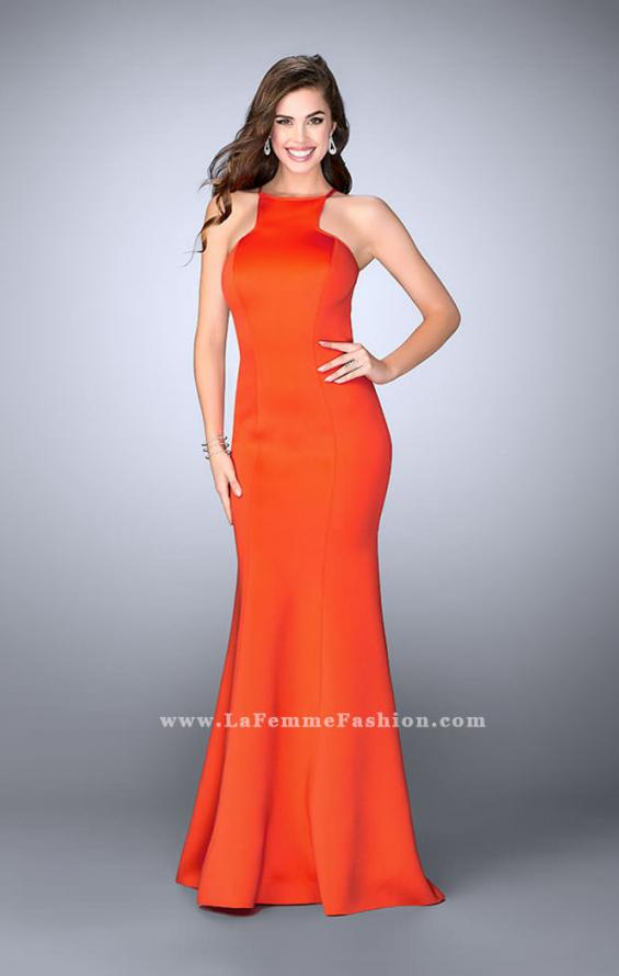 Picture of: High Neck Neoprene Prom Dress with Strappy Back, Style: 24374, Main Picture