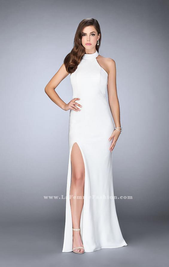 Picture of: Long Jersey Dress with High Neckline and Strappy Back, Style: 24376, Detail Picture 2