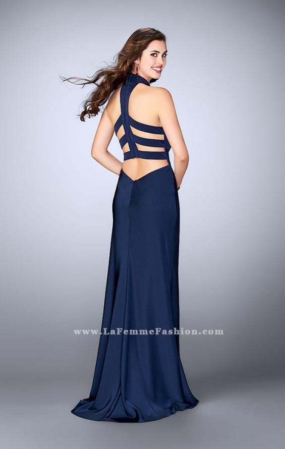 Picture of: Long Jersey Dress with High Neckline and Strappy Back, Style: 24376, Detail Picture 3