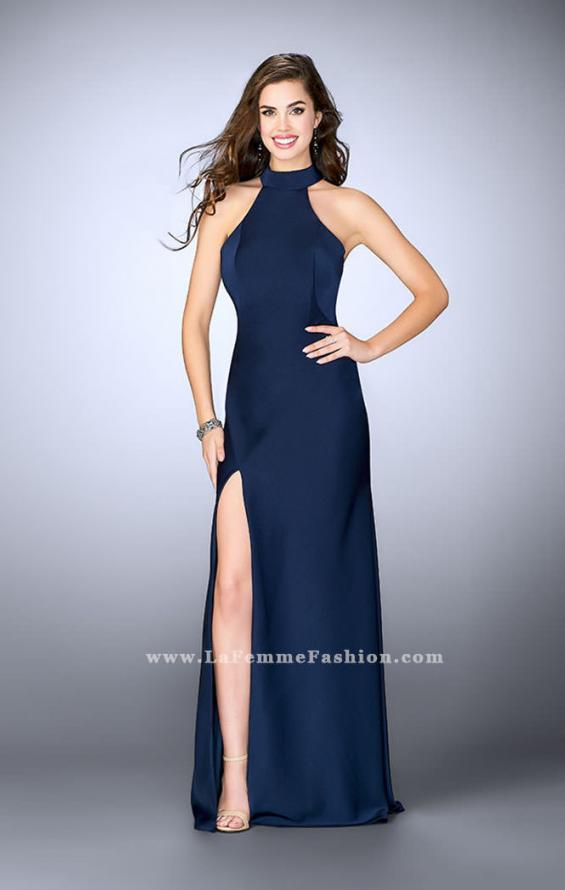 Picture of: Long Jersey Dress with High Neckline and Strappy Back, Style: 24376, Detail Picture 4