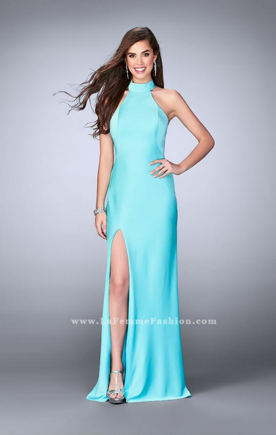 Picture of: Long Jersey Dress with High Neckline and Strappy Back, Style: 24376, Detail Picture 5