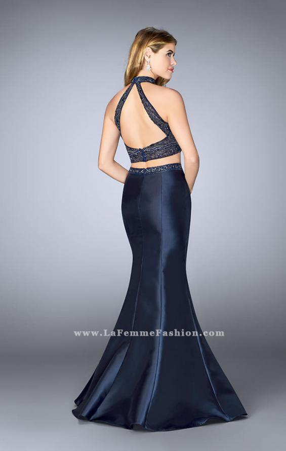 Picture of: Long Two Piece Mermaid Prom Dress with Beaded Top, Style: 24388, Back Picture