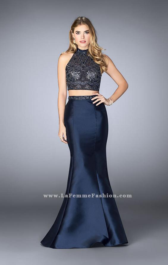Picture of: Long Two Piece Mermaid Prom Dress with Beaded Top, Style: 24388, Detail Picture 1