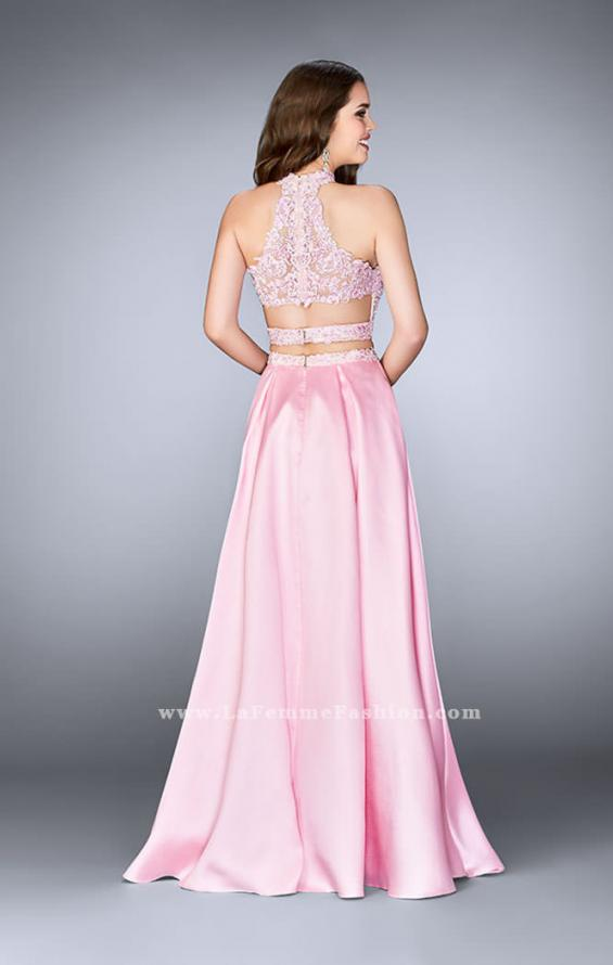 Picture of: A-line Lace Two Piece Dress with Floral Embroidery, Style: 24407, Back Picture