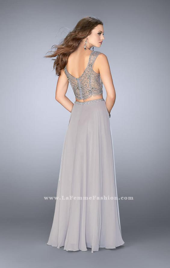 Picture of: A-line Two Piece Dress with Beaded Top and Pockets, Style: 24417, Back Picture