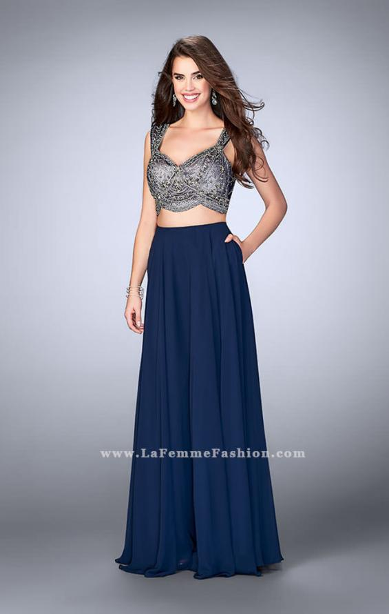 Picture of: A-line Two Piece Dress with Beaded Top and Pockets, Style: 24417, Detail Picture 1