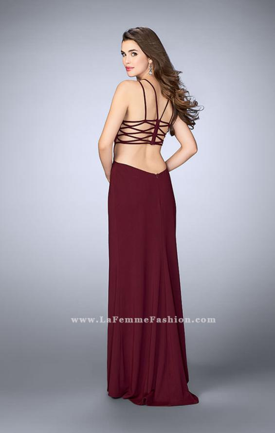 Picture of: High Neck Prom Dress with Strappy Back and Side Slit, Style: 24443, Detail Picture 10
