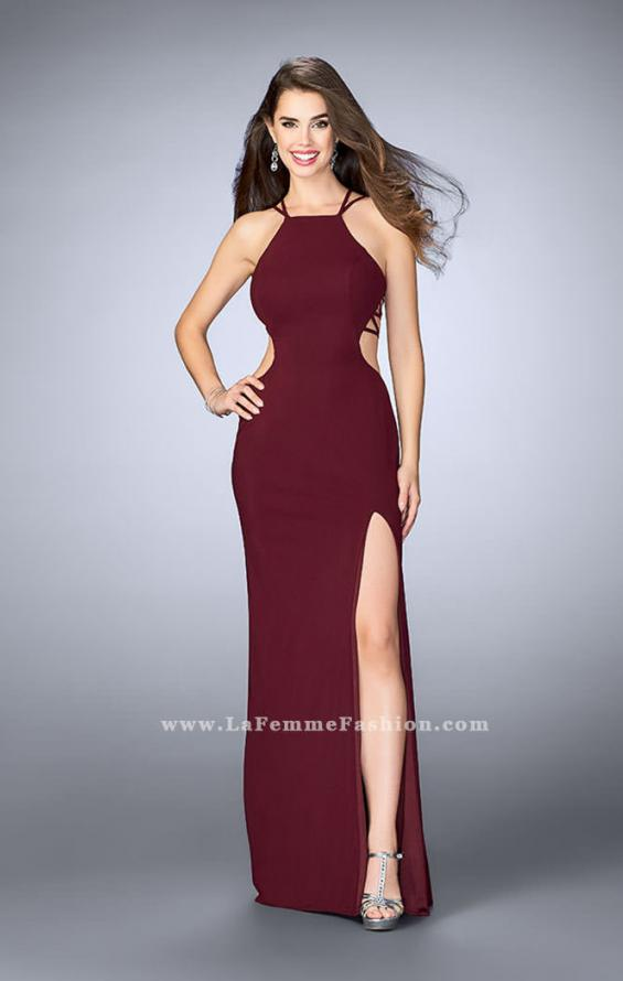 Picture of: High Neck Prom Dress with Strappy Back and Side Slit, Style: 24443, Detail Picture 11