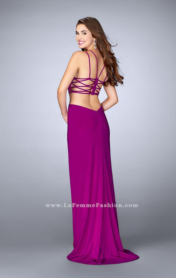 Picture of: High Neck Prom Dress with Strappy Back and Side Slit, Style: 24443, Detail Picture 1