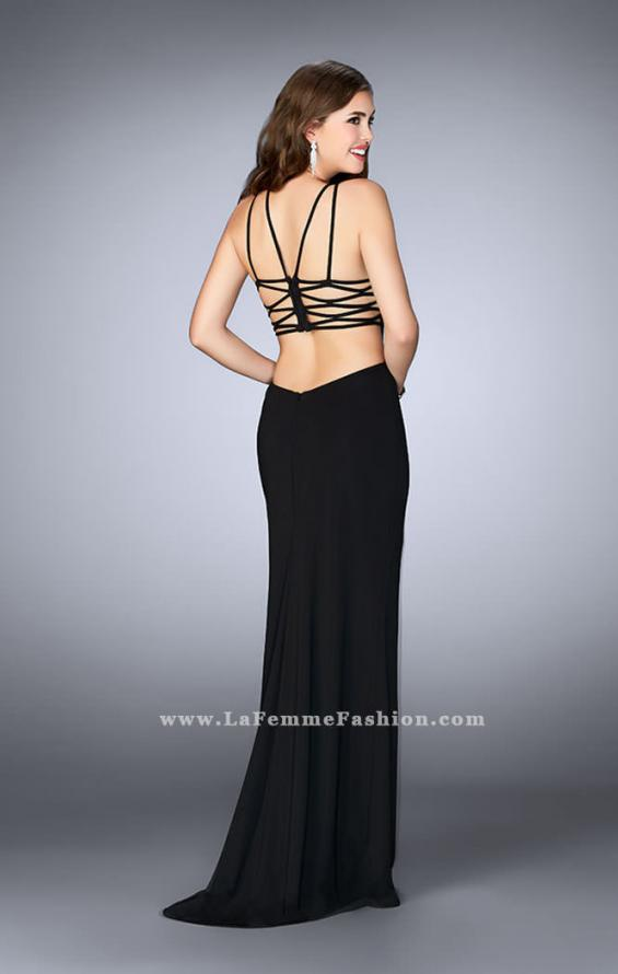 Picture of: High Neck Prom Dress with Strappy Back and Side Slit, Style: 24443, Detail Picture 2
