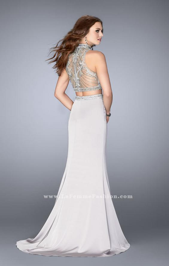 Picture of: High Neck Two piece Prom Dress with Detailed Beading, Style: 24495, Back Picture