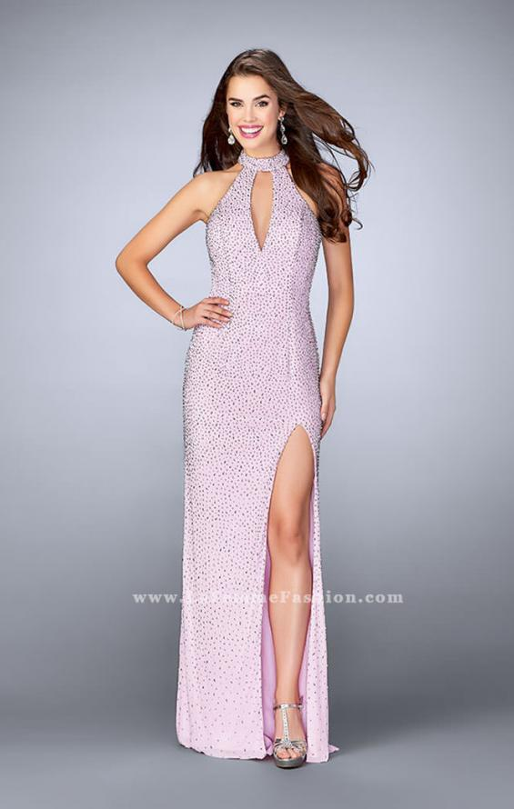 Picture of: High Neck Beaded Dress with Keyhole and Open Back, Style: 24499, Detail Picture 1