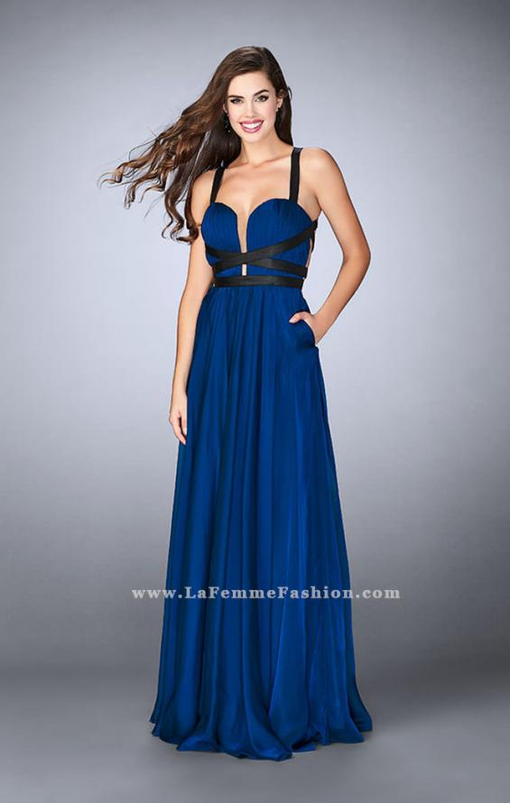 Picture of: Chiffon A-line Prom Dress with Vegan Leather Straps, Style: 24536, Main Picture