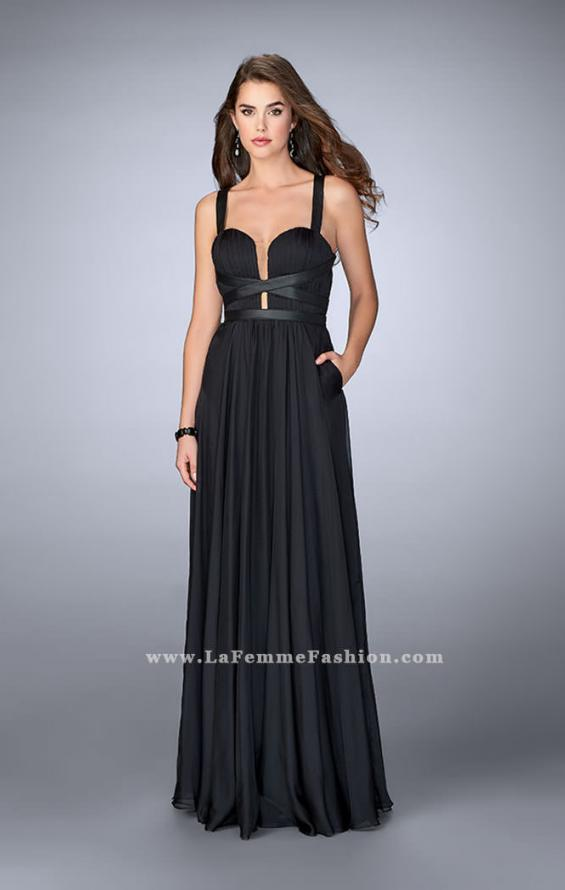 Picture of: Chiffon A-line Prom Dress with Vegan Leather Straps, Style: 24536, Detail Picture 2
