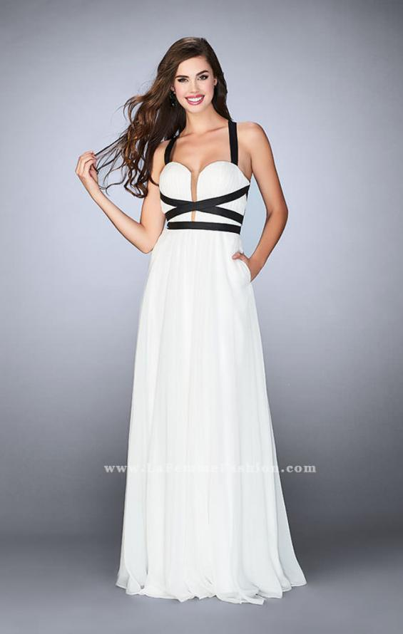 Picture of: Chiffon A-line Prom Dress with Vegan Leather Straps, Style: 24536, Detail Picture 3