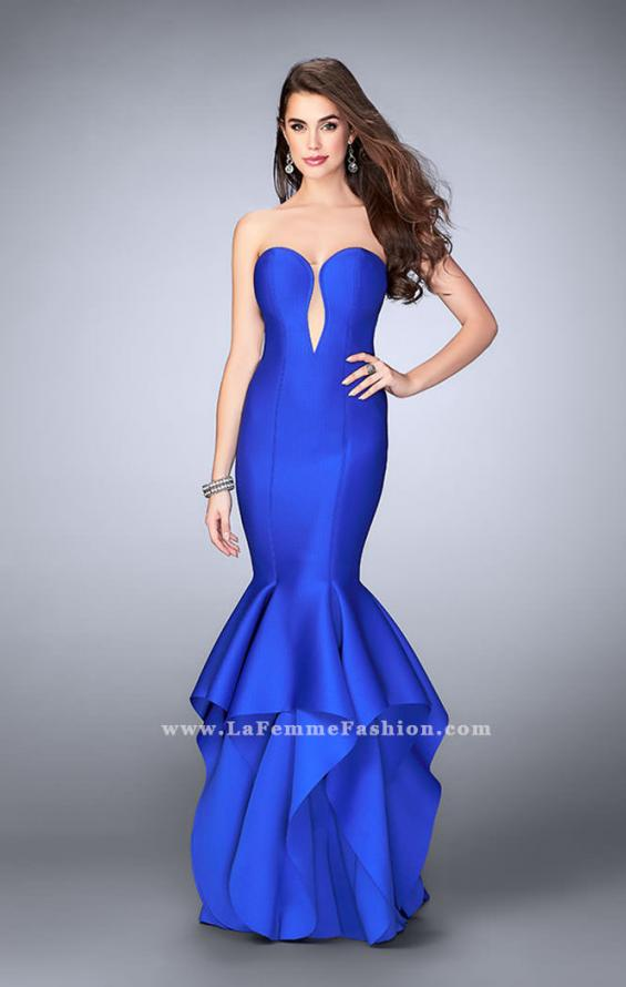 Picture of: Neoprene Prom Dress with Open Back and Tiered Skirt, Style: 24537, Main Picture
