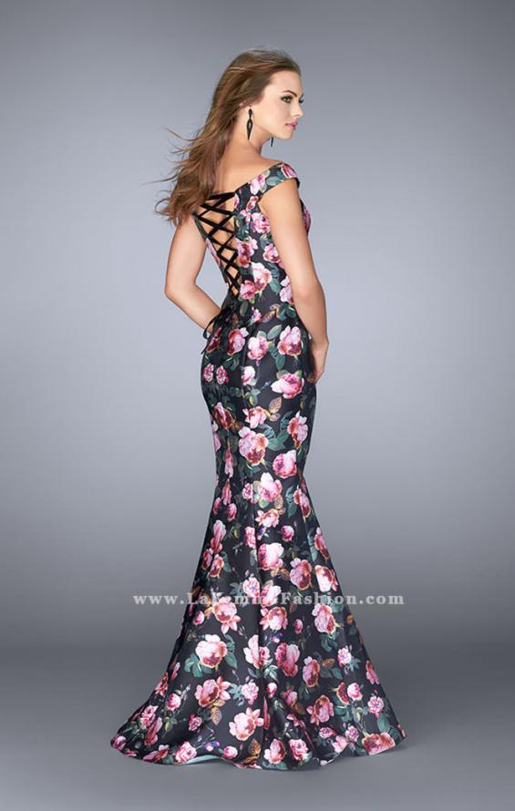 Picture of: Floral Off the Shoulder Mermaid Prom Dress, Style: 24551, Back Picture