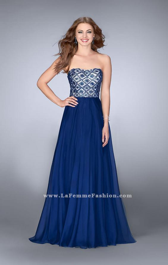 Picture of: Strapless A-line Dress with Beading and Chiffon Skirt, Style: 24561, Main Picture