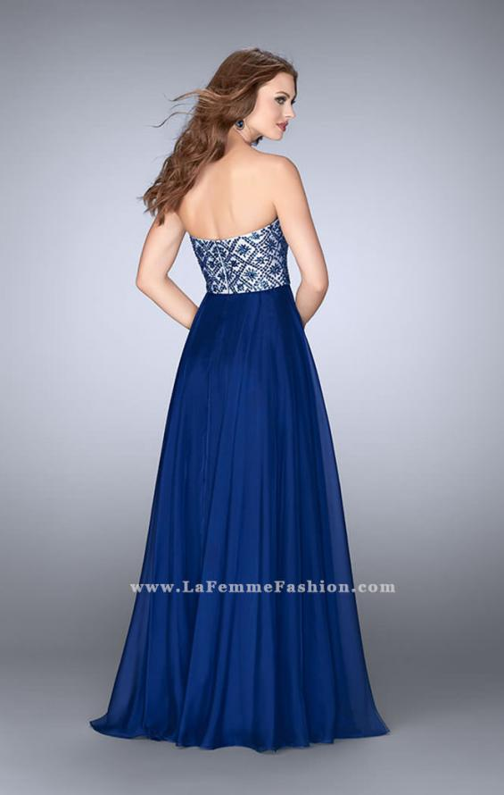 Picture of: Strapless A-line Dress with Beading and Chiffon Skirt, Style: 24561, Back Picture