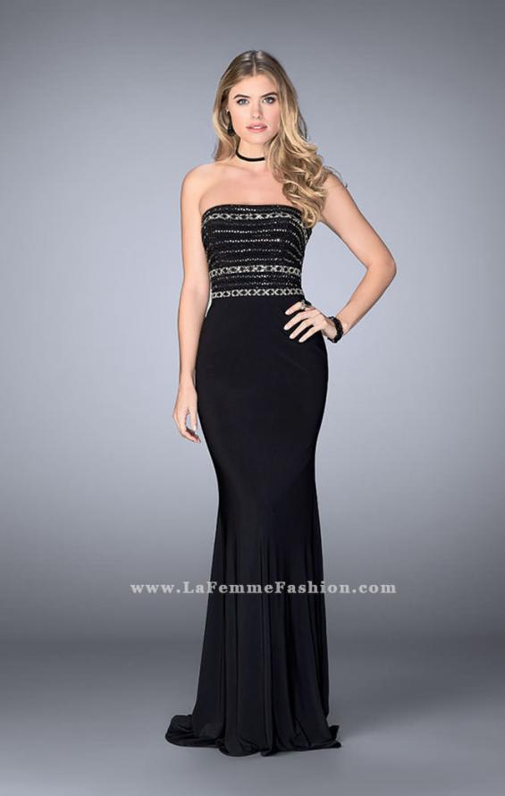 Picture of: Strapless Dress with Beaded Top with Flare Skirt, Style: 24573, Main Picture