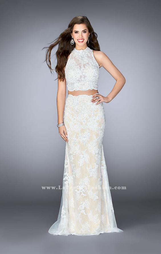 Picture of: Two Piece Lace Prom Dress with Flare Skirt, Style: 24615, Main Picture