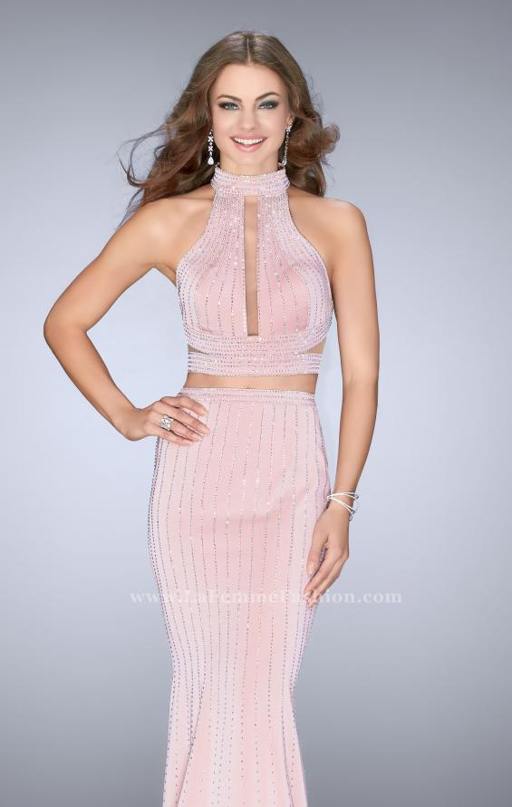 Picture of: Beaded Two Piece Dress with Side Cut Outs, Style: 24622, Main Picture