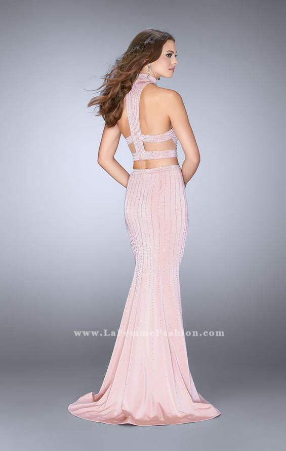 Picture of: Beaded Two Piece Dress with Side Cut Outs, Style: 24622, Back Picture