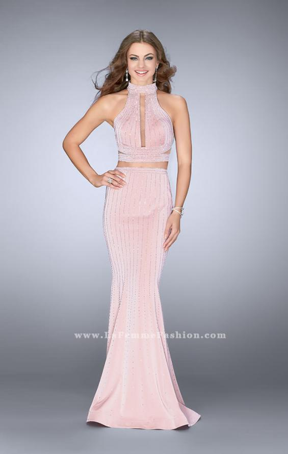 Picture of: Beaded Two Piece Dress with Side Cut Outs, Style: 24622, Detail Picture 1