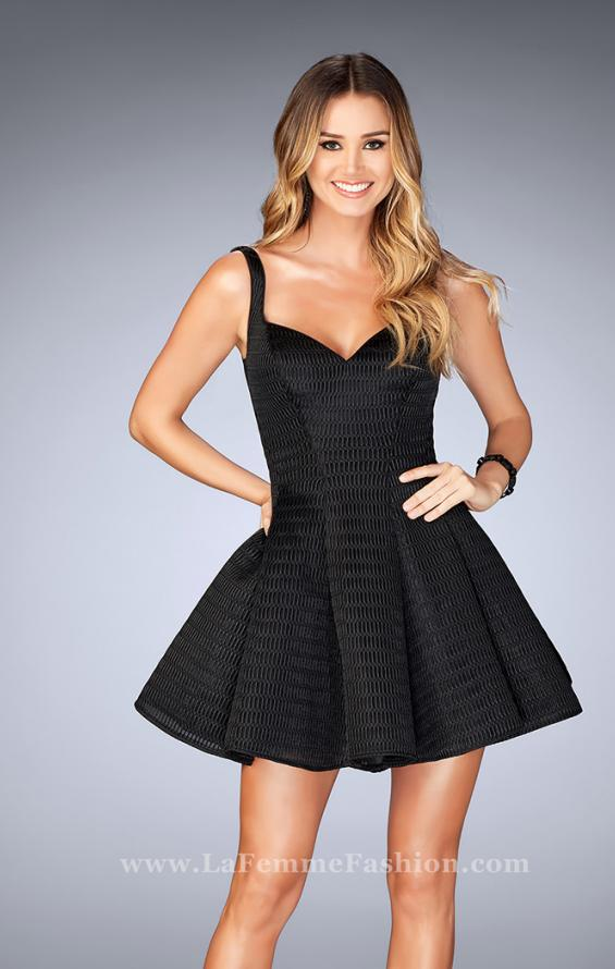 Picture of: Textured Neoprene Dress With Pleated Skirt, Style: 24628, Detail Picture 2