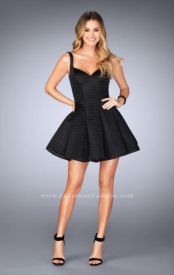 Picture of: Textured Neoprene Dress With Pleated Skirt, Style: 24628, Detail Picture 6