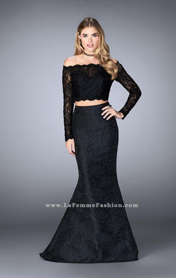 Picture of: Two Piece Lace Top Prom Dress with Mermaid Skirt, Style: 24648, Main Picture